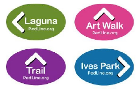 PedLine installation of sidewalk markers to be completed in October